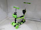 Самокат Детский Scooter с родительской ручкой и сидением, фото 3