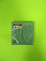 Салфетки бумажные однотонные зеленые
