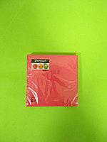 Салфетки бумажные однотонные красные