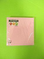 Салфетки бумажные однотонные розовые
