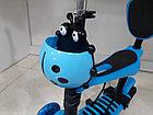 Самокат Scooter для детей с родительской ручкой и сидением, фото 6