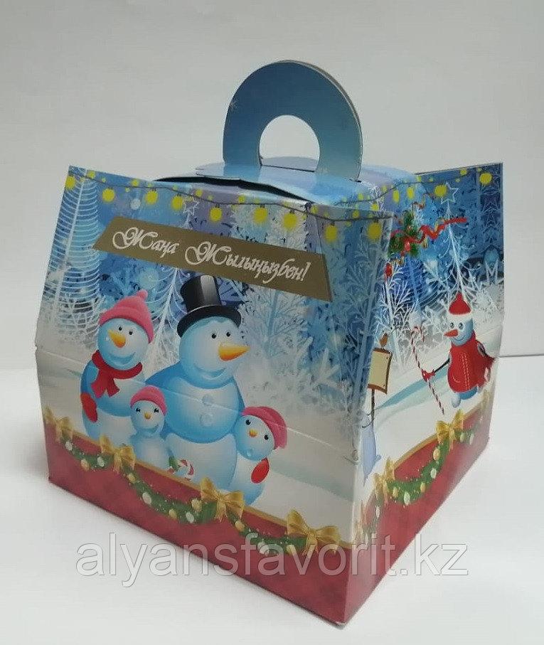 Коробка для новогодних подарков. Сундучок № 8