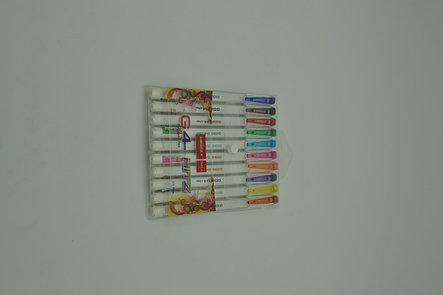 Набор ручек шариковых цветных UNIMAX HITZ 10 цветов, фото 2