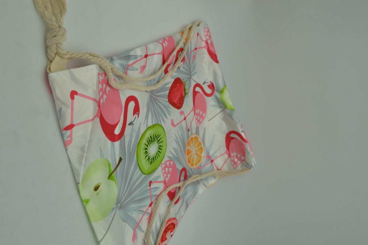 Сумка-мешок для обувиа Flamingos