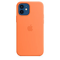 Оригинальный Силиконовый чехол MagSafe для iPhone 12 и iPhone 12 Pro Кумкват