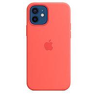 Оригинальный Силиконовый чехол MagSafe для iPhone 12 и iPhone 12 Pro Розовый цитрус