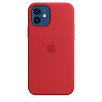 Оригинальный Силиконовый чехол MagSafe для iPhone 12 и iPhone 12 Pro Красный