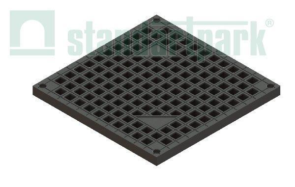 Решетка PolyMax Basic РВ-39.39-ПП ячеистая пластиковая черная