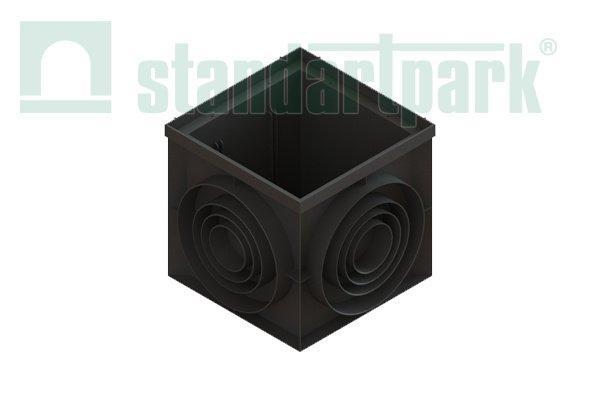 Дождеприемник-пескоуловитель PolyMax Basic ДПП–40.40-ПП угловой пластиковый