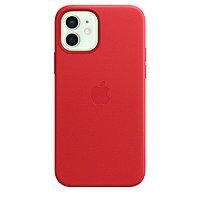 Оригинальный Кожаный чехол MagSafe для iPhone 12 и iPhone 12 Pro Красный