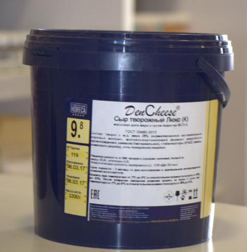 Сыр творожный «Люкс (К)» с массовой долей жира в сухом веществе 65% DenCheese® (3.3кг-ведро)