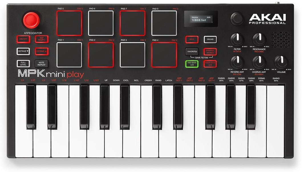 MIDI-клавиатуры AKAI PRO MPK MINI PLAY