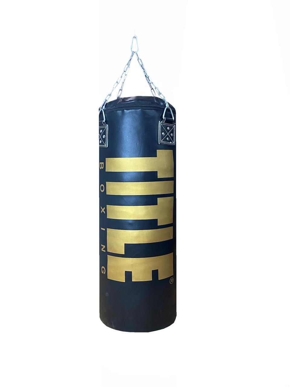 Боксерский мешок TITLE из натуральной кожи (150х45см, 68кг)