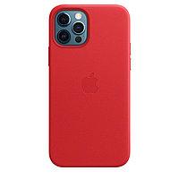 Оригинальный Кожаный чехол MagSafe для iPhone 12 Pro Max Красный