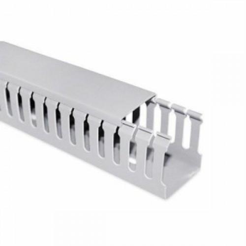 Кабельный канал пластиковый, Deluxe, 40х40х2000мм, (ширина х высота х длина) перфорированный