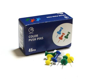 Гвоздики для доски, 9,5x2,3мм, 45шт, цветные Zhenda