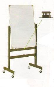 Доска магнитно-маркерная 60x90см, двухсторонняя, алюминиевая подставка, 4колеса, Data Zone