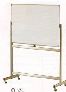 Доска магнитно-маркерная 90x180см, двухсторонняя, алюминиевая подставка, 4колеса, Data Zone