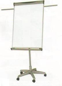 Доска-флипчарт 60x90см, магнитно-маркерная, 2 держателя, блокнот, 5колес, Data Zone