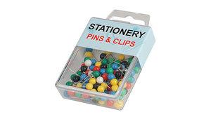 Гвоздики-шарики для доски, 100шт, цветные Zhenda