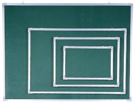 Доска магнитно-меловая 90x120см, алюминиевая рамка Data Zone