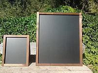 Доска графитовая, черная матовая, не магнитная, меловая, фото 3