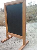 Доска графитовая, черная матовая, не магнитная, меловая, фото 5