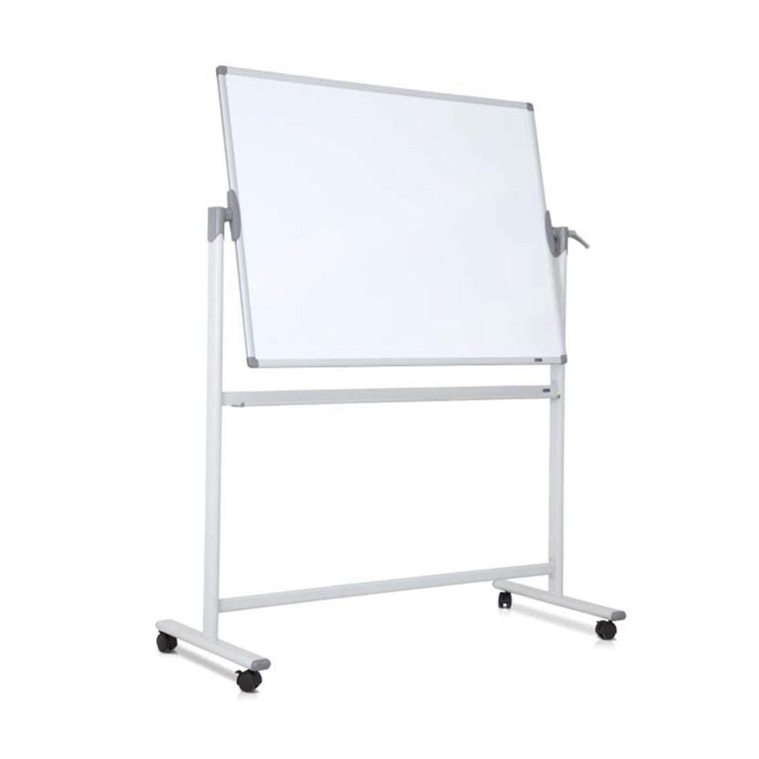 Доска магнитно-маркерная. Двухсторонняя, мобильная, 90х120см., Белый. Comix, BJ0103