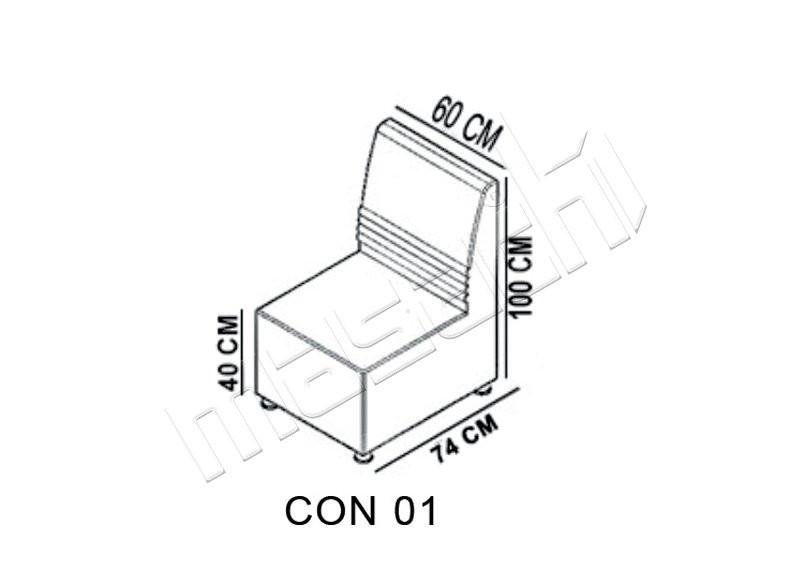Concord Moduler Bekleme ( Duz ) L: 50 / D: 74 / H: 100