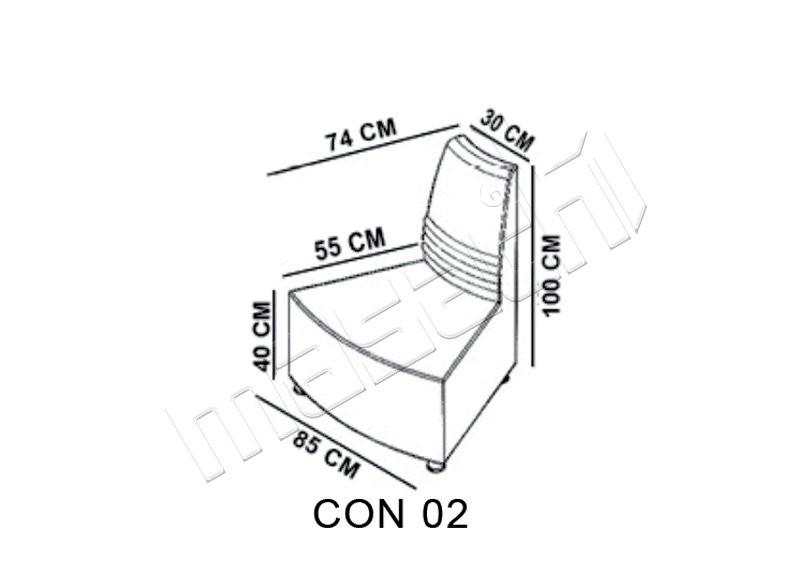 Concord Moduler Bekleme ( Dis Yay ) L: 85 / D: 74 / H: 100