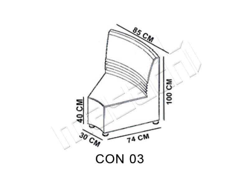 Concord Moduler Bekleme ( Ic Yay ) L: 85 / D: 74 / H: 100