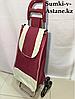 Хозяйственная сумка-тележка на колесах для продуктов.Высота 98 см, ширина 35 см, глубина 25 см.