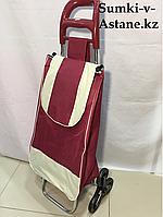 Хозяйственная сумка-тележка на колесах для продуктов.Высота 98 см, ширина 35 см, глубина 25 см., фото 1