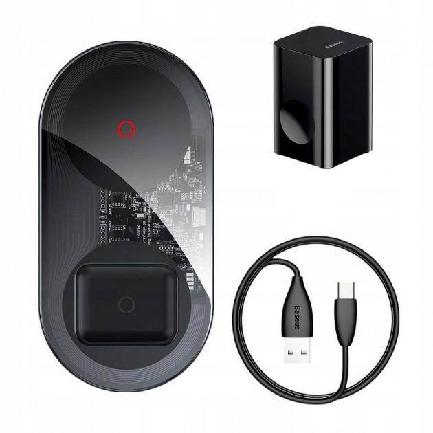 Беспроводное зарядное устройство Baseus Simple 2-in-1 Wireless Charger Turbo Edition 24W (with 12V CN Charger)
