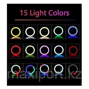RGB Лампа Кольцевая yd460 Со Штативом и пультом на шнуре Ring Light  LED 18 дюймов, фото 2