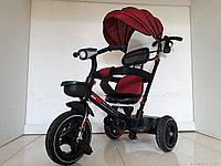 """Велосипед трехколесный """"Toy"""" с родительской ручкой, фонарем и мелодиями. Рассрочка. Kaspi RED"""