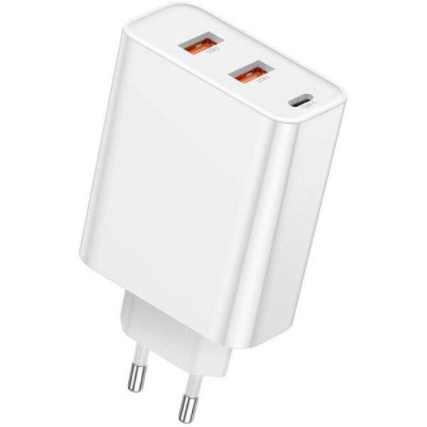 Зарядное устройство Baseus PPS Three Output Quick Charger (C+U+U) 60W EU White (CCFS-G02)