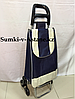 Продуктовая сумка-тележка на колесах.Высота 98 см,ширина 35 см, глубина 25 см.