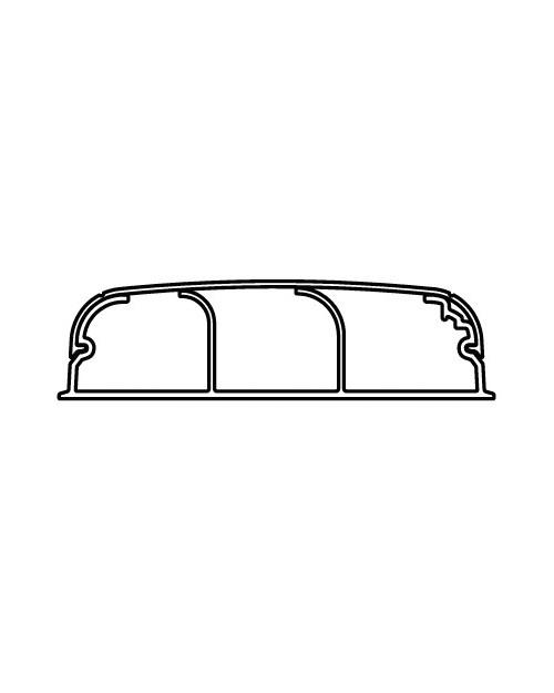 Кабель-канал плинтусного типа DKC 07200 (70х22 мм, трехсекционный, с крышкой)