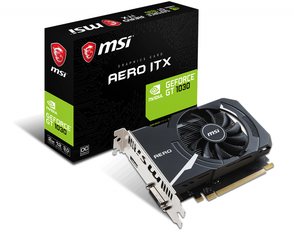 Видеокарта MSI GeForce GT 1030 AERO ITX 2Gb GDDR5 64bit