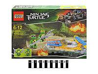 Детский конструктор аналог Лего 154 детали ниндзя-черепашки модель N33009