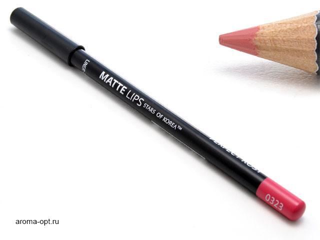 Карандаш для губ ART SOFFIO* Matte Lips оттенок 0323 идеально розовый