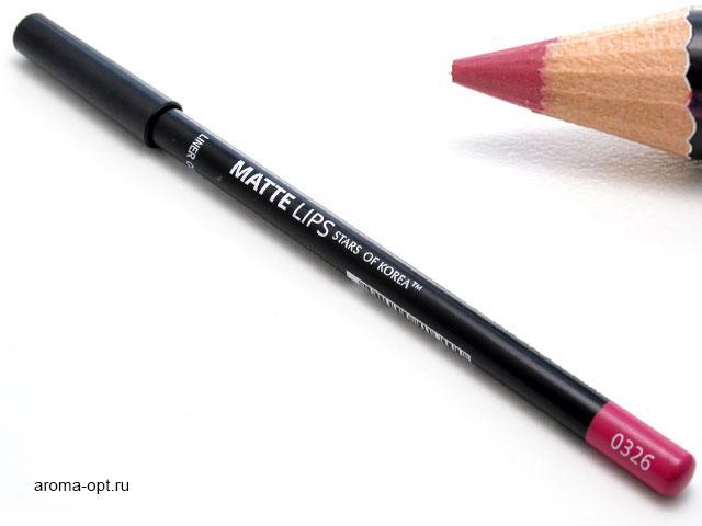 Карандаш для губ ART SOFFIO* Matte Lips оттенок 0326 розовая фуксия