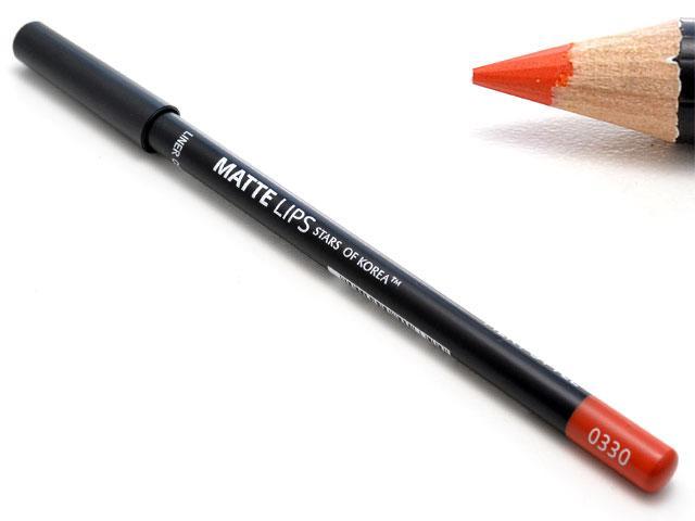 Карандаш для губ ART SOFFIO* Matte Lips оттенок 0330 огненный шик