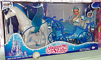 Подарочный набор с куклой, лошадкой и каретой. Illusion state.