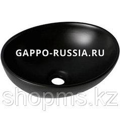 Раковина керамическая Gappo GT304-8 чёрная