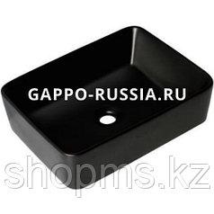 Раковина керамическая Gappo GT403-8 чёрная