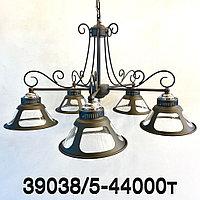 Лофт люстра потолочная с 5 плафонами 39038 5