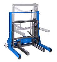 Тележка гидравлическая г/п 700 кг. для снятия колес грузовых автомобилей MEGA SR700