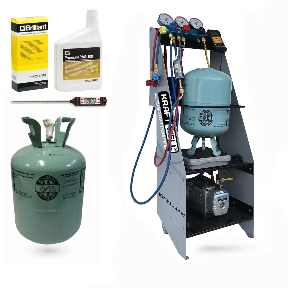 Комплект для обслуживания кондиционеров на базе KRW134AM KraftWell KRW134AM set